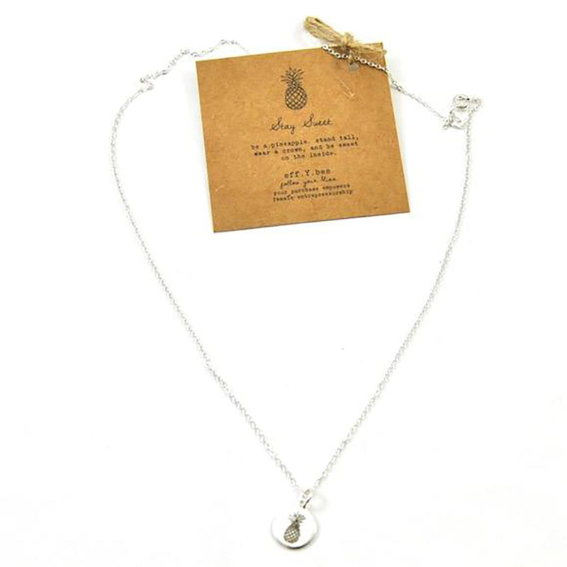 Stay Sweet Silver Charm Necklace