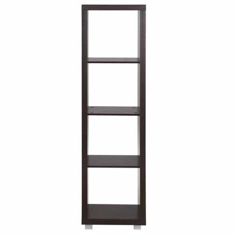 Caro - 4x1 Cube Bookcase, Bookshelf or Lowboard, walnut veneer color