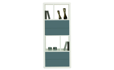 Leonardo - Shelf with 6 asymmetric fields, with high gloss, round edges - Designs By Phoenix - Furniture - 1
