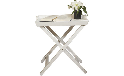 Country - Side Table with Tray, white - Designs By Phoenix - Furniture - 6