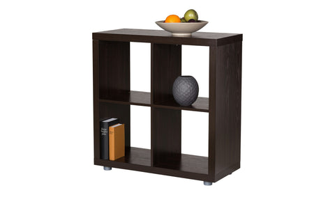 Caro - 2x2 Cube, Room Divider or Bookshelf, walnut veneer color