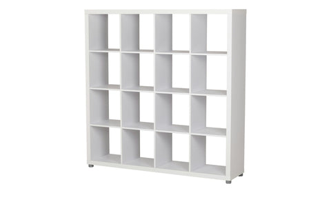 Caro - 4x4 Bookshelf / Room divider, white - Designs By Phoenix - Furniture - 1