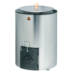 Kota 80 Litre Wood Burning Sauna Water Heater Stainless Steel Wood Burning Cauldron Finnmark Sauna