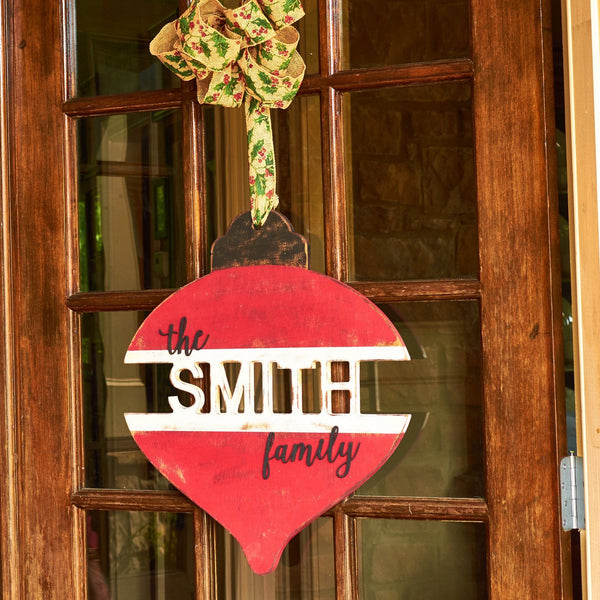 """The Family"" Last Name Ornament"