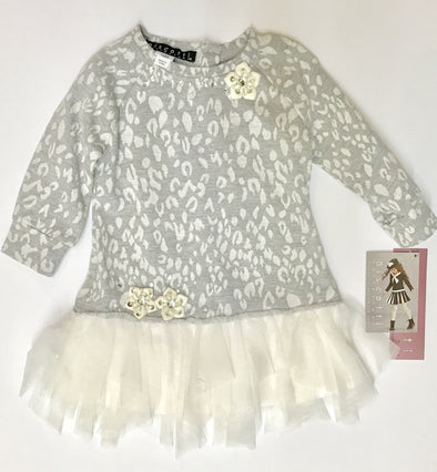BIscotti L/S Soft Grey KnitTutu Dress