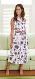 Jude Connally Ashlyn Midi Dress in Scattered Floral Navy