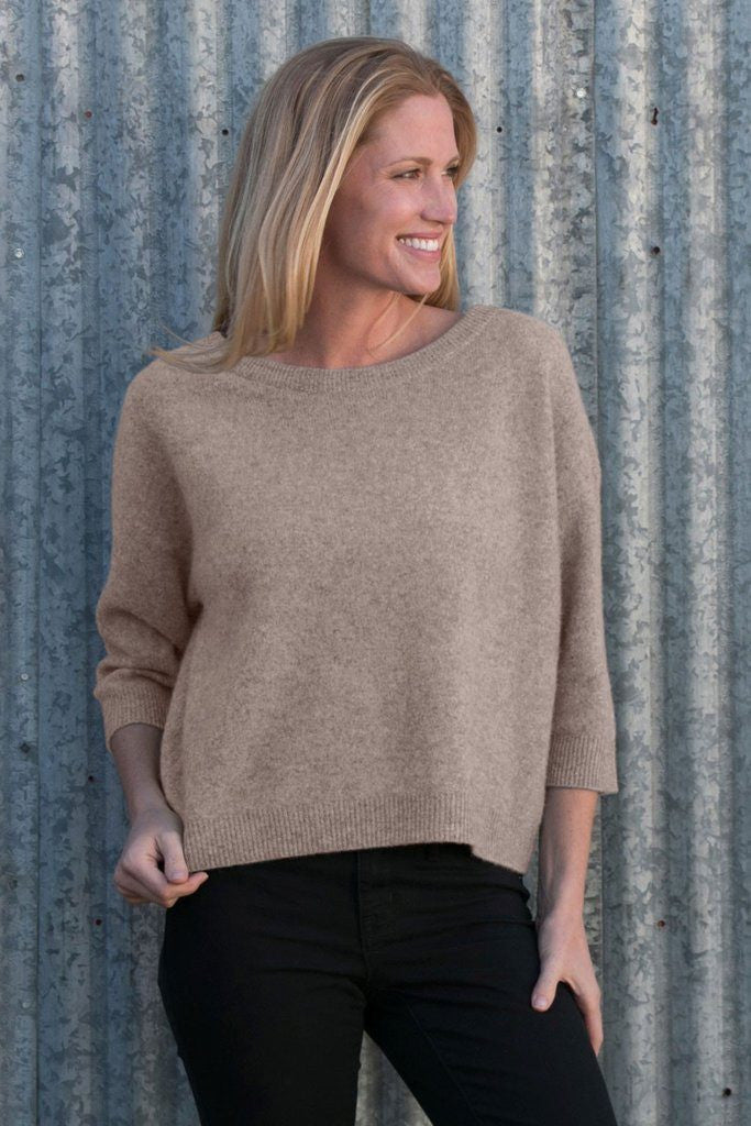 Krimson Klover Serendipity Cashmere Sweater in Toast - ON SALE!