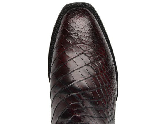 Lucchese Classic Men's Baron Black Cherry Baron Alligator Boot GY 1014