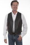 Scully Men's Lambskin Vest - Black