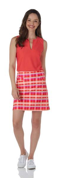 Jude Connally Sonia Skort Festival Plaid Coral