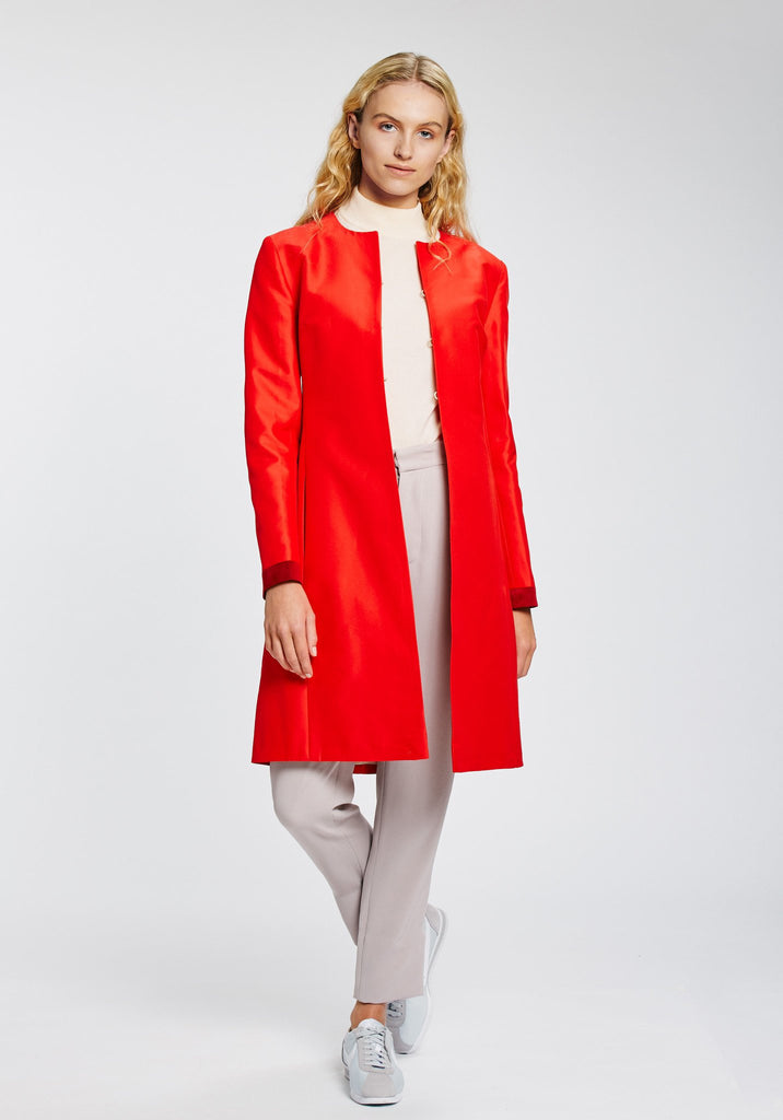 Katherine Hooker Tallulah Coat in Red