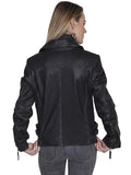 Scully Women's Leather Motorcycle Jacket Black