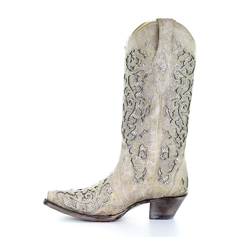 Corral Wedding Line Women's Martina White Cowboy Boot A3322