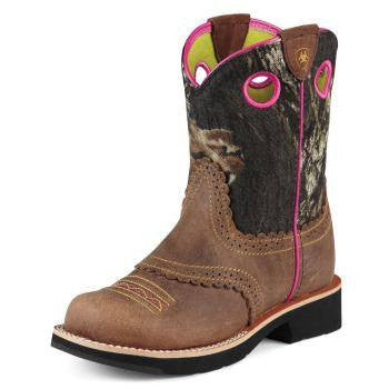 Ariat Youth Quickdraw Boot in Distressed Brown