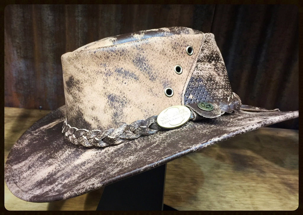 Outback Survival Gear Wellington Breeze Goat Hat H8202 Stone - Saratoga Saddlery