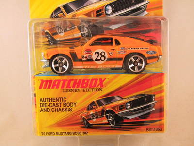 Matchbox Lesney Edition, '70 Ford Mustang Boss 302