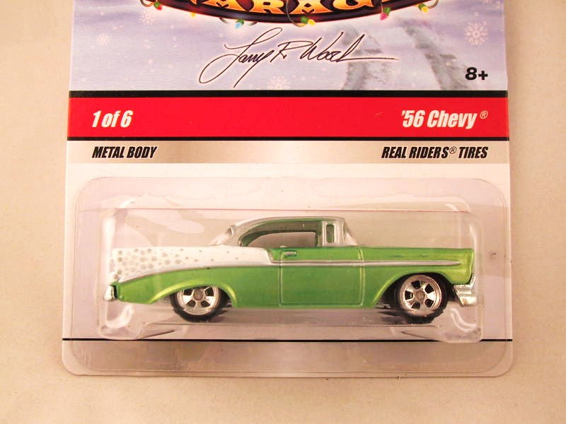 Hot Wheels Larry's Garage 2009, '56 Chevy, Green/White, Holiday