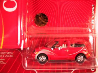 Johnny Lightning Coca Cola with Tin Box 2005, 1999 Chrysler PT Cruiser