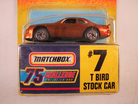 Matchbox 75 Challenge Gold Vehicle, #07 T Bird Stock Car