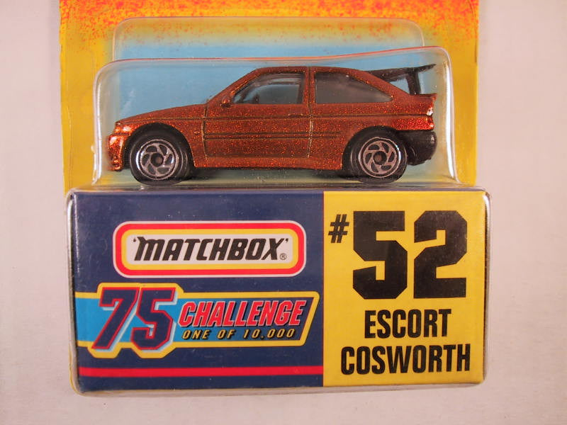 Matchbox 75 Challenge Gold Vehicle, #52 Escort Cosworth