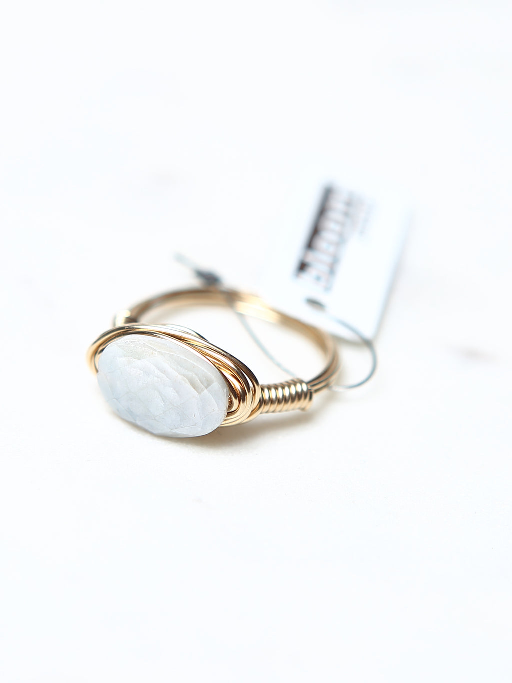 Moonstone Wire Wrapped Ring