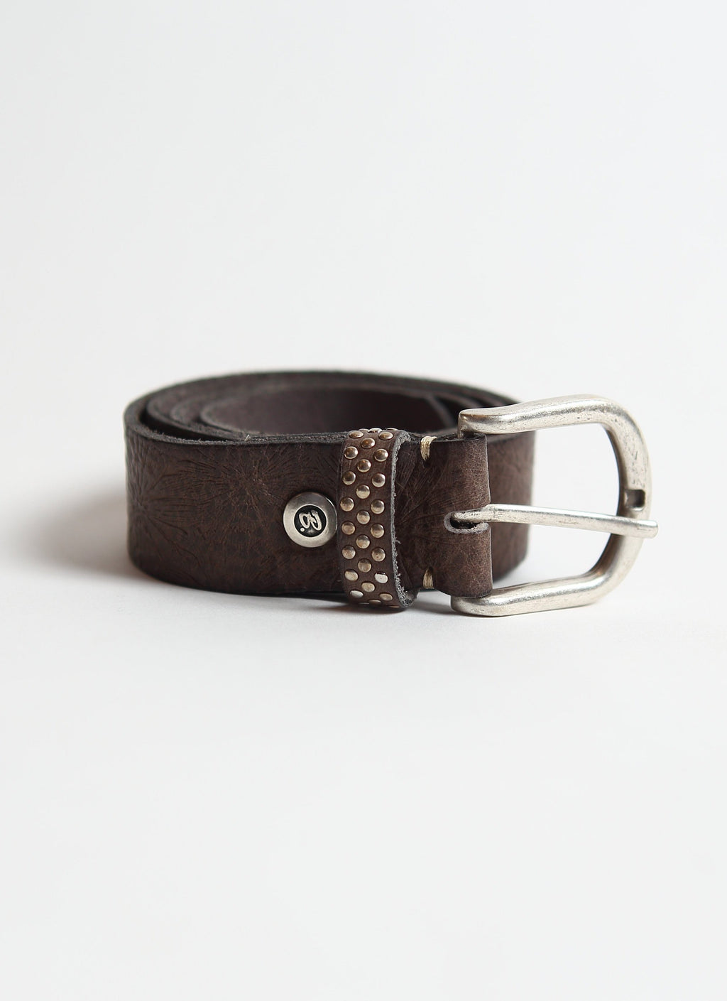 Leather Belt | Steel Starburst