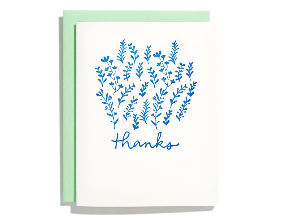 Garden of Thanks Thank You Card