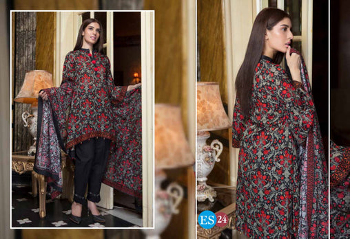 ES 24 - Exclusive  Collection Vol 2 - 3 PIECE SUIT 2019-Three Piece Suit-SAFWA -SAFWA Brand Pakistan online shopping for Designer Dresses-SAFWA DRESS DESIGN, DRESSES, PAKISTANI DRESSES