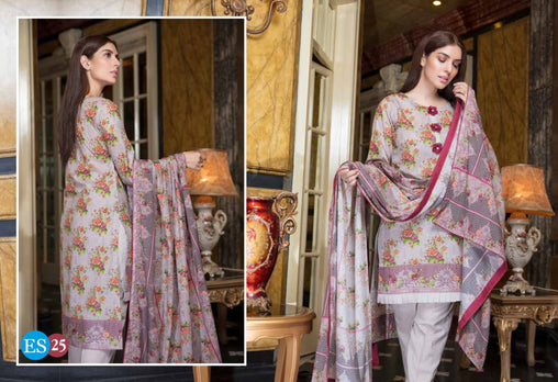 ES 25 - Exclusive  Collection Vol 2 - 3 PIECE SUIT 2019-Three Piece Suit-SAFWA -SAFWA Brand Pakistan online shopping for Designer Dresses-SAFWA DRESS DESIGN, DRESSES, PAKISTANI DRESSES