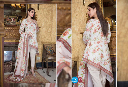ES 27 - Exclusive  Collection Vol 2 - 3 PIECE SUIT 2019-Three Piece Suit-SAFWA -SAFWA Brand Pakistan online shopping for Designer Dresses-SAFWA DRESS DESIGN, DRESSES, PAKISTANI DRESSES