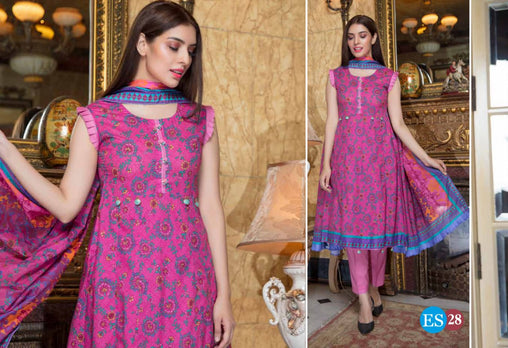 ES 28 - Exclusive  Collection Vol 2 - 3 PIECE SUIT 2019-Three Piece Suit-SAFWA -SAFWA Brand Pakistan online shopping for Designer Dresses-SAFWA DRESS DESIGN, DRESSES, PAKISTANI DRESSES