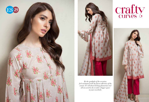ES 29 - Exclusive  Collection Vol 2 - 3 PIECE SUIT 2019-Three Piece Suit-SAFWA -SAFWA Brand Pakistan online shopping for Designer Dresses-SAFWA DRESS DESIGN, DRESSES, PAKISTANI DRESSES