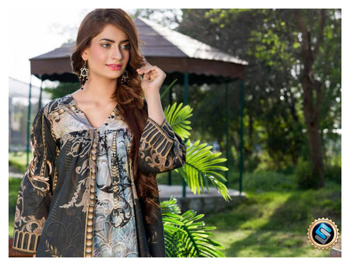 SAFWA DRESS DESIGN, DRESSES, PAKISTANI DRESSES, PR-08 - PRAHA COLLECTION - 3 PIECE SUIT 2019-Three Piece Suit-SAFWA -SAFWA Brand Pakistan online shopping for Designer Dresses