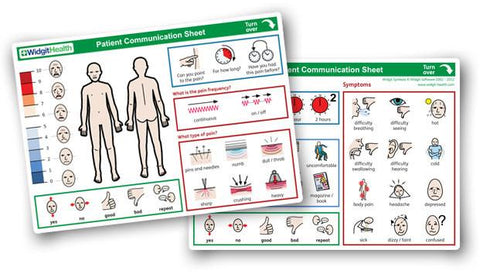 Patient Communication Sheets by Widgit Health (10 sheet pack) - Bridges Canada
