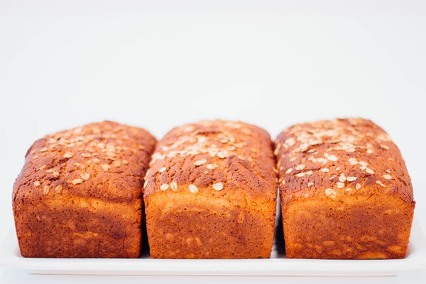 3 Honey Oat Loaves