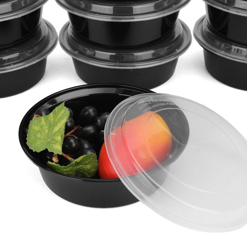 30 x Round Plastic Meal Prep Food Storage Containers