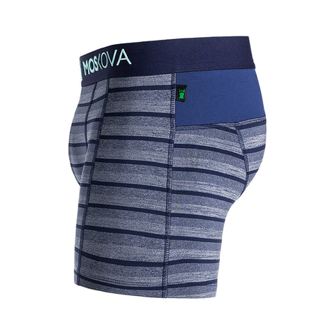 M2 Trainer Polyamide Wicking Stripe Blue Boxer Brief