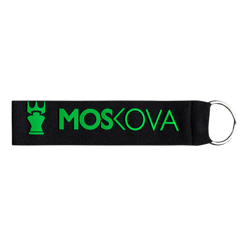 BLACK/GREENKEYRING