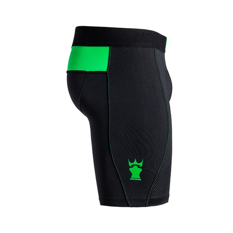 M2 Tech Long Black / Green Boxer Brief