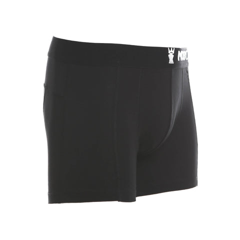 M2 Cotton Black/White Boxer Briefs