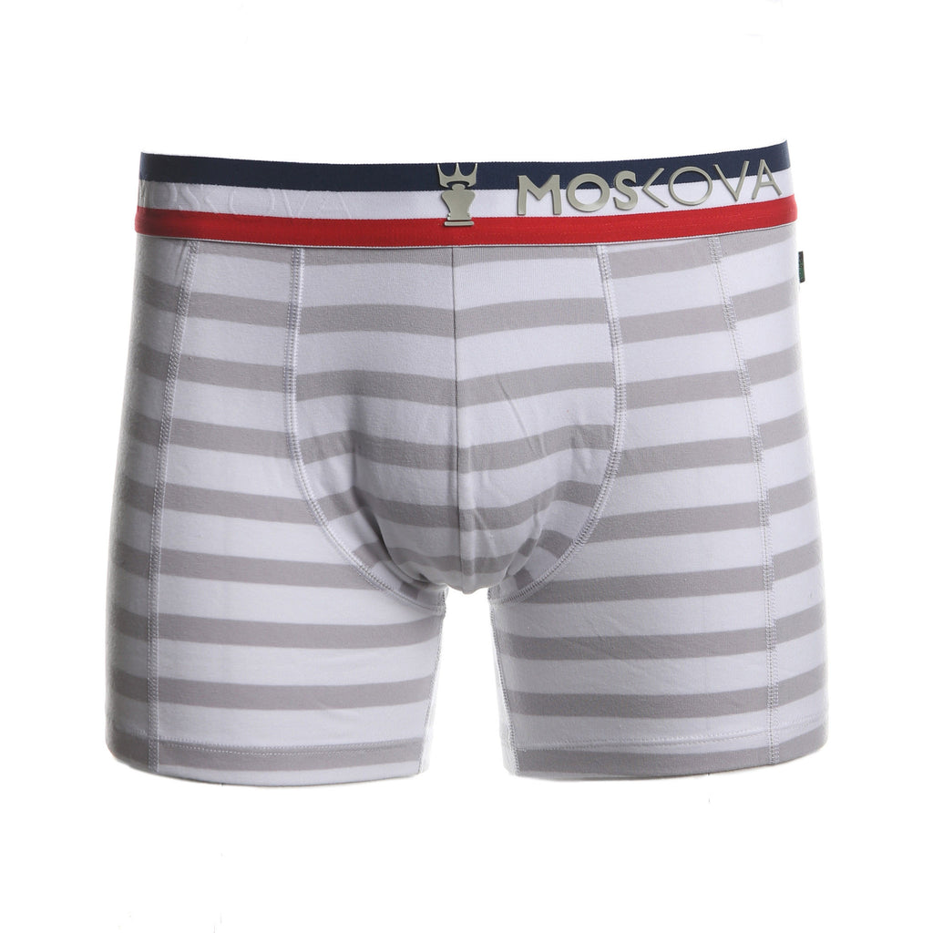 M2 Cotton Multi Stripe Red Navy White Boxer Briefs