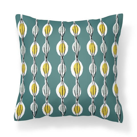 Fifties Abstract - Cushion - WendyKaye - 2