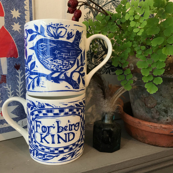 For Being Kind- bone China screen printed mug*** out of stock it's on reorder but may take a few weeks