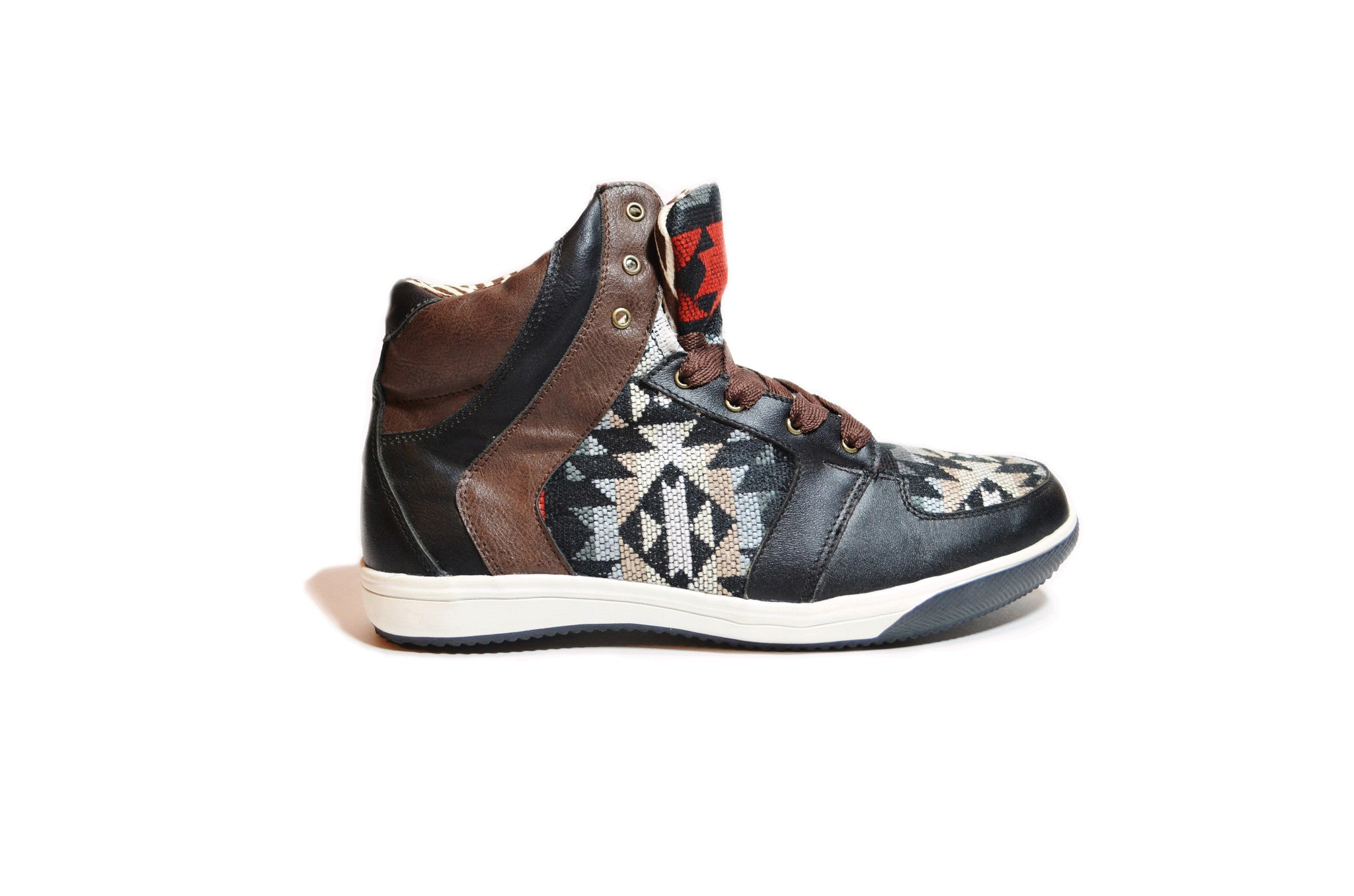 Woven High Top Sneakers