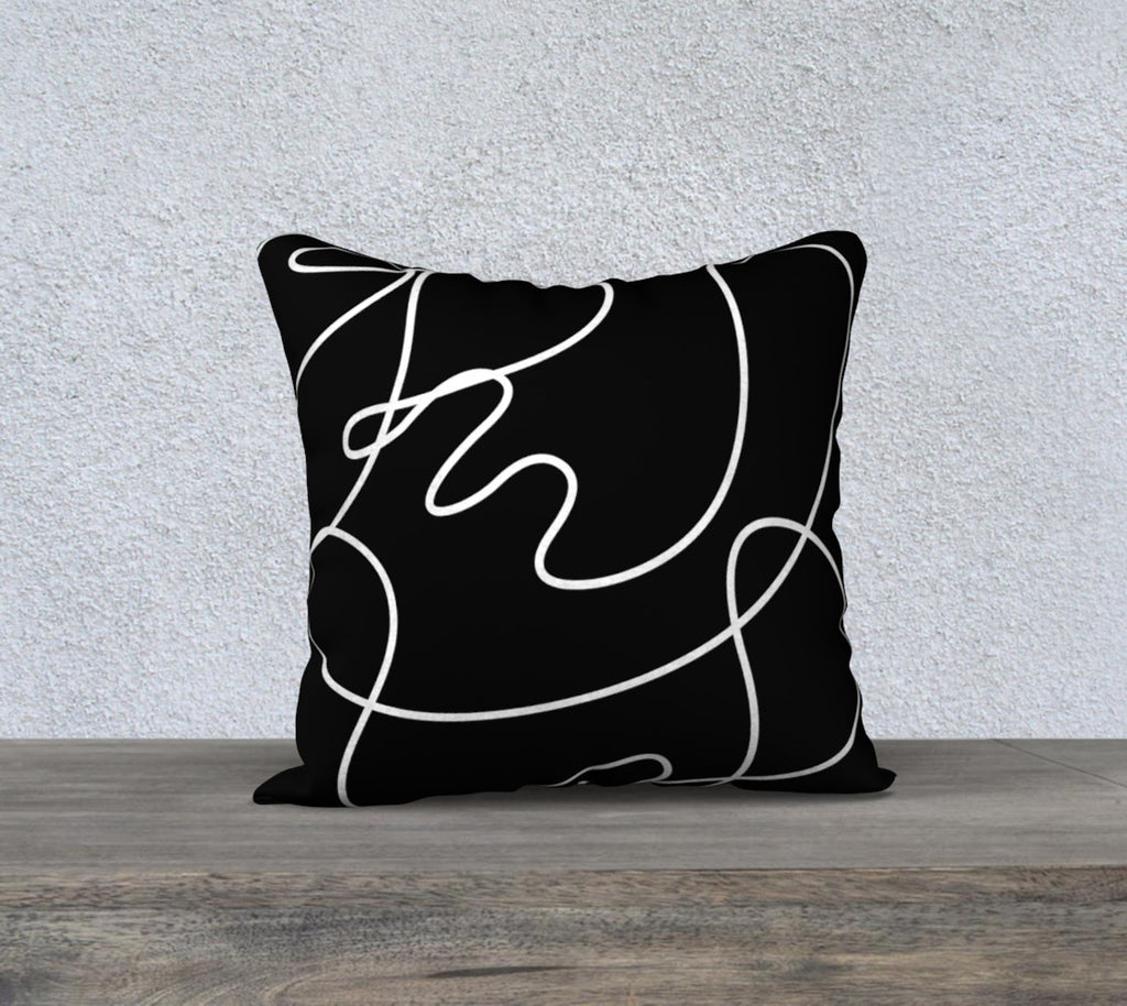 Curved and Broken Lines 18X18 Pillow Cover