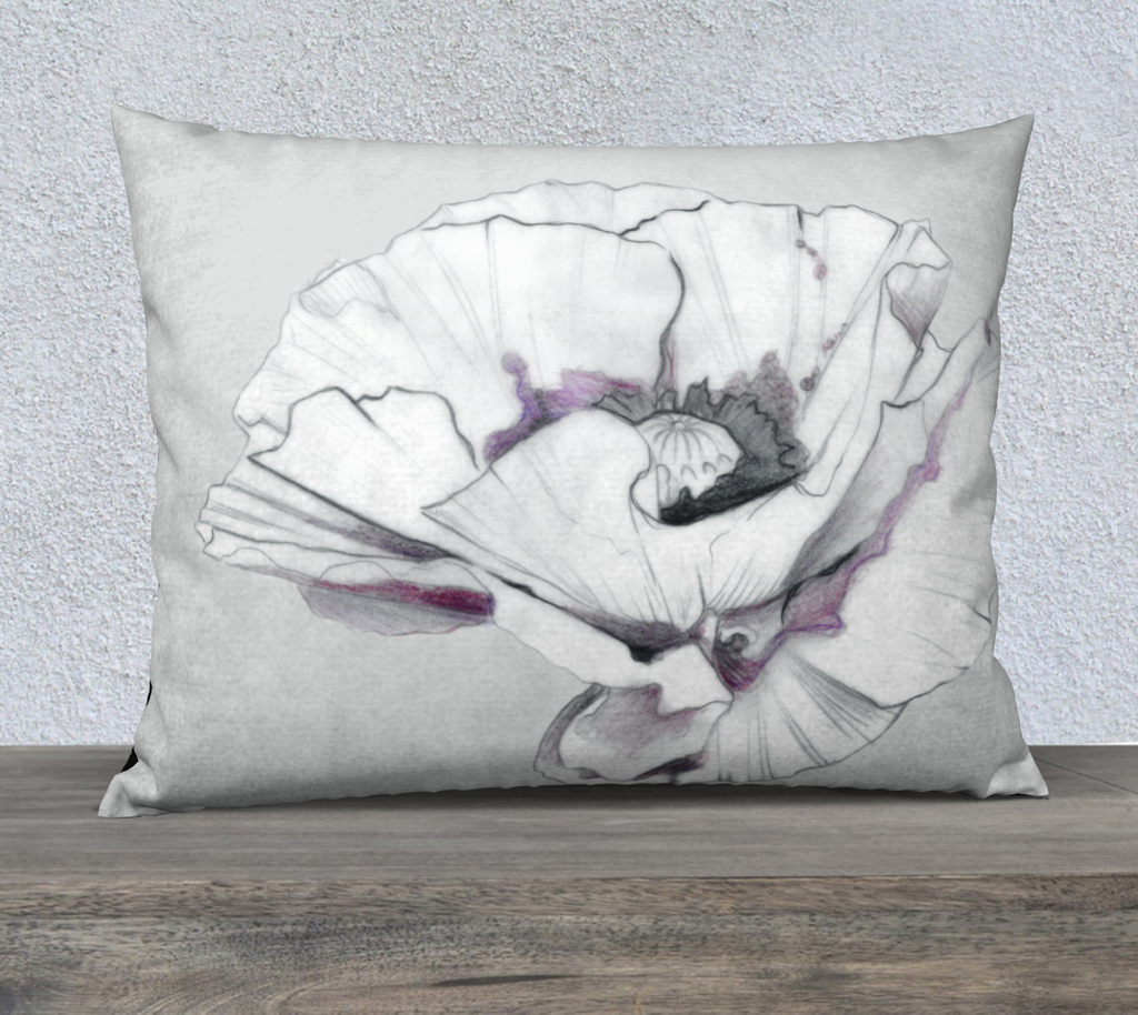 Poppy Pillow Cover 26 X 20 by Julie L'Ecuyer