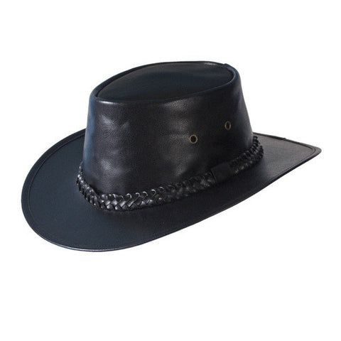 Turner Hat presents the Leather Gambler Casino Black