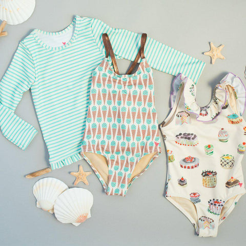 Pink Chicken Belle Suit 2y mint chocolate chip - 19spcs102b