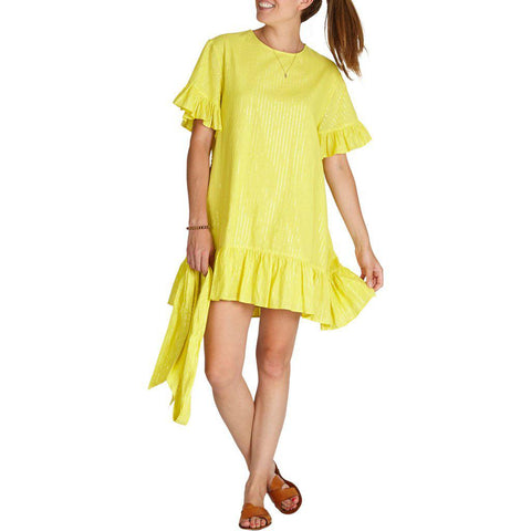 Pink Chicken Halsy Dress XS aurora yellow - 19spcw195b