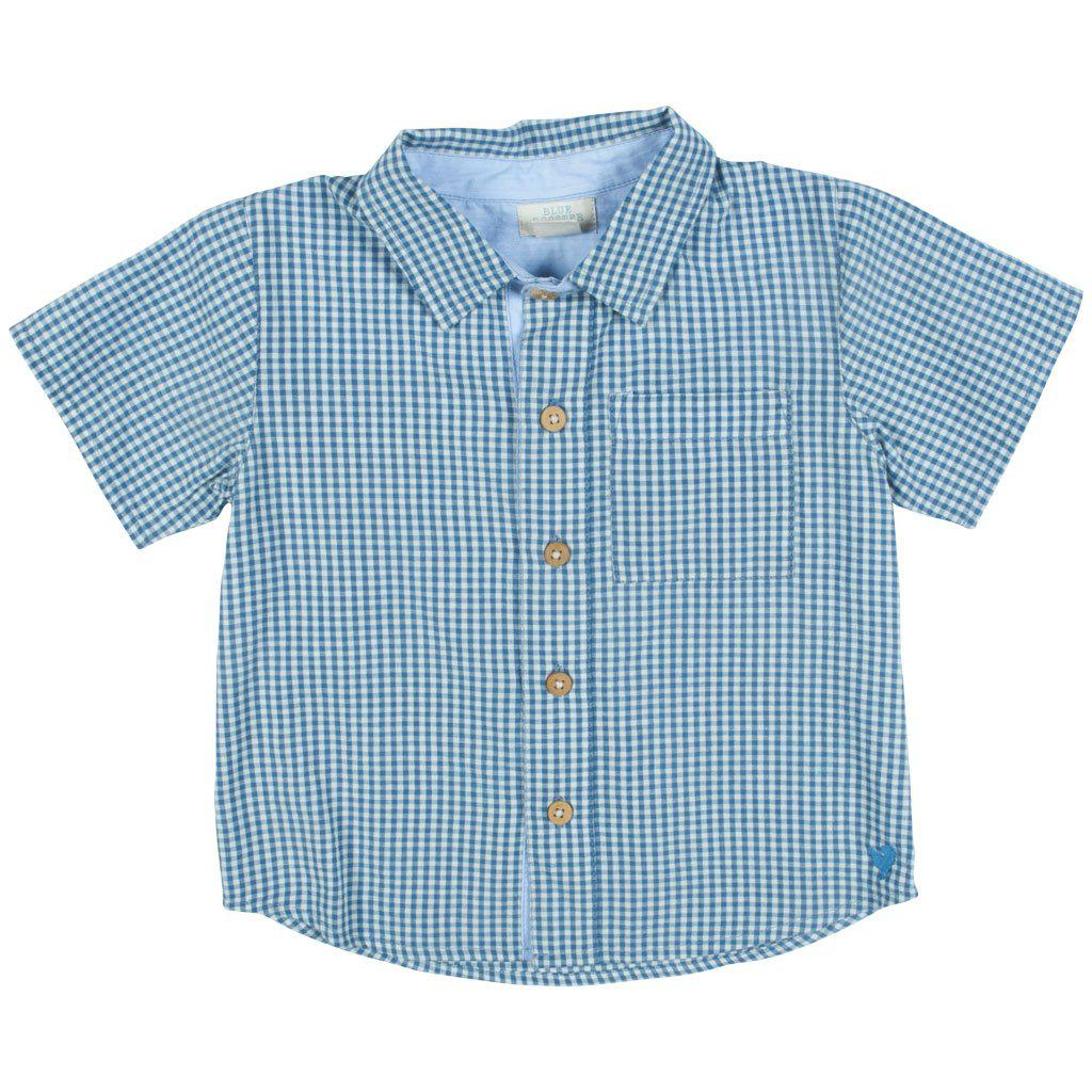 Pink Chicken Jack Shirt 2y china blue gingham - 19sbr100a